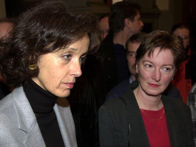 SP-Regierungsrätinnen Barbara Schneider und Veronica Schaller (Archiv, Jahr 2000)