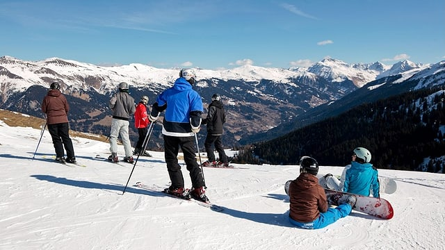 Fotografia che mussa il territori da skis da Tschiertschen.