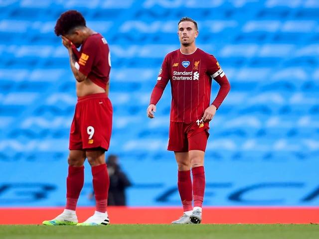 Hängende Köpfe bei den Liverpool-Spielern.