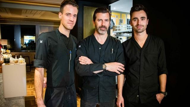 Marcel Skibba, Andreas Caminada e Silvio Germann