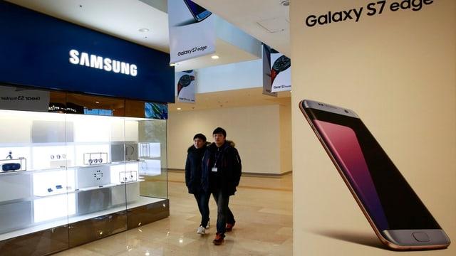 Eine Smartphone-Filiale in Seoul.