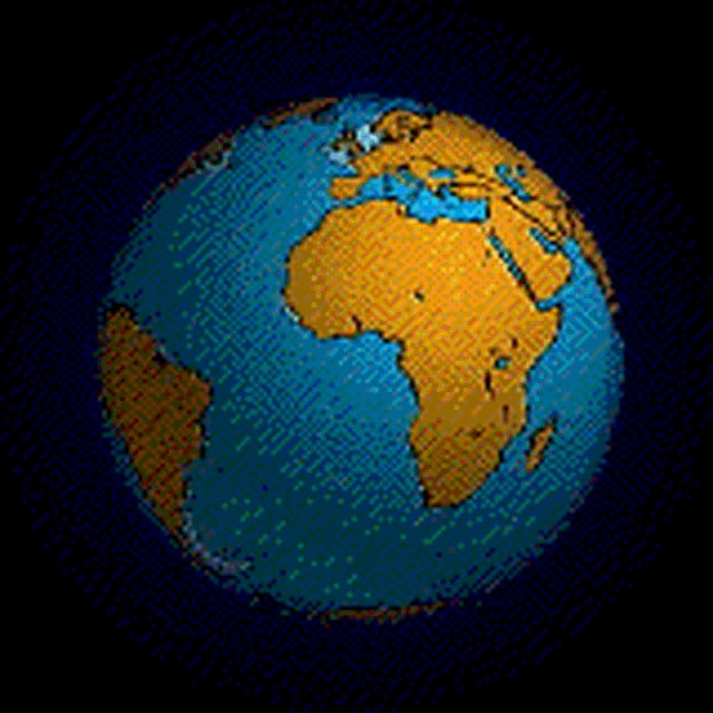 Animation: Erdkugel mit dem Urkontinent Pangäa