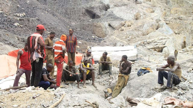 Arbeiter in Kobaltmine Katanga.