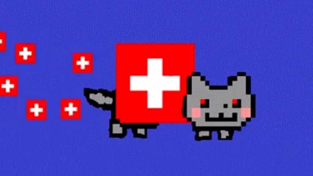 Swiss Nyan Cat.