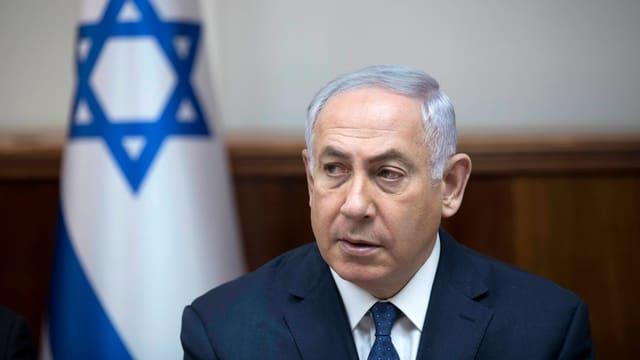 Premier Netanjahu bei einer Ansprache im Parlament.