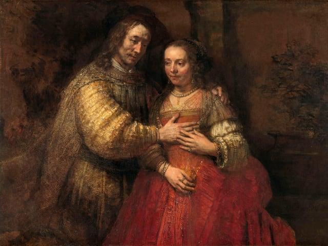 Ein Mann und eine Frau auf einem Rembrandt-Gemälde.