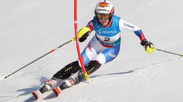 Rahel Kopp im Slalom.