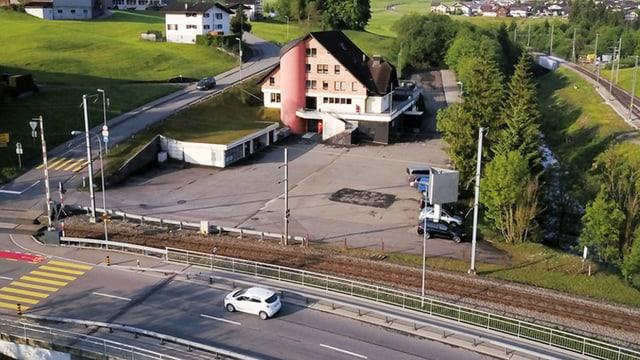Luftaufnahme des Biberhofs in Bennau.