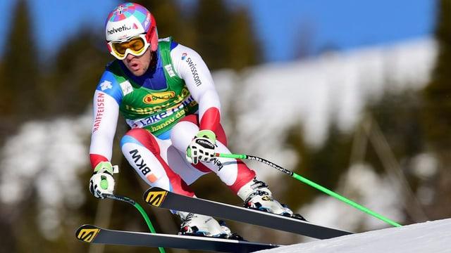 Il skiunz Grischun Sandro Viletta durant il Super G a Lake Louise