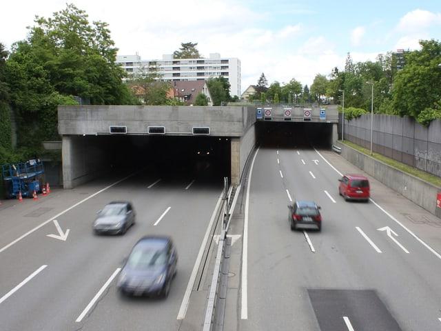 Sonnenhof-Tunnel der A6 in Bern-Ostring