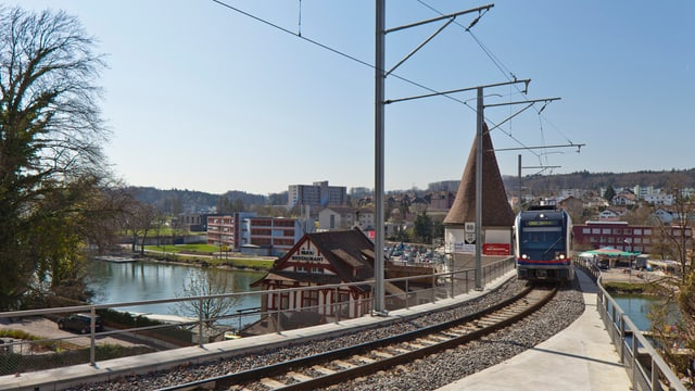 Bahn in der Nähe von Bremgarten
