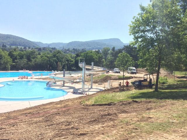 Baustelle in der Badi