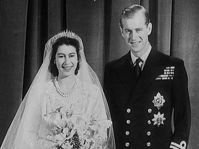 Hochzeitsfoto Elizabeth und Philip