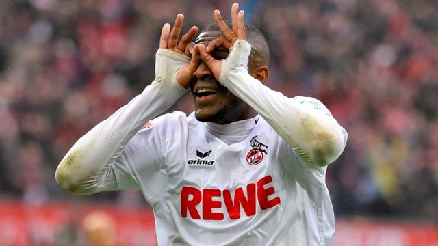 Kölns Anthony Modeste ist gegen die Hertha nicht zu stoppen.