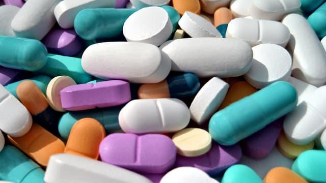 Farbige Pillen