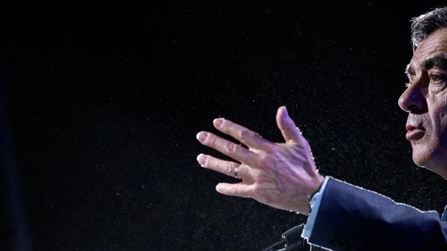 François Fillon während einer Wahlkampfrede.