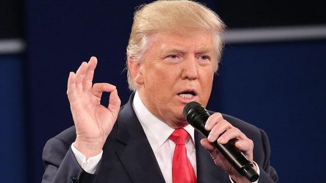 Donald Trump während der TV-Debatte.