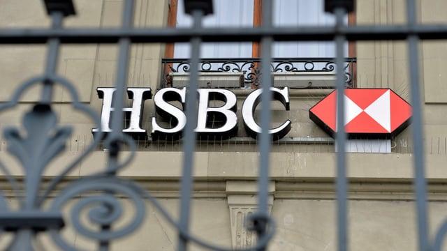 Logo am Sitz der HSBC in Genf