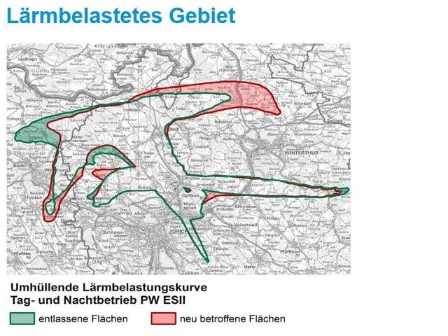 Karte mit grünen und roten Zonen.