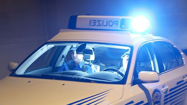 Polizeiauto der Kantonspolizei Aargau im Einsatz.