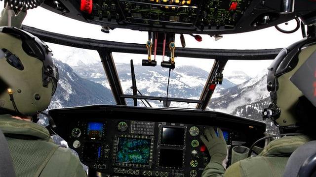 Vista or dal cockpit dad in Super Puma.