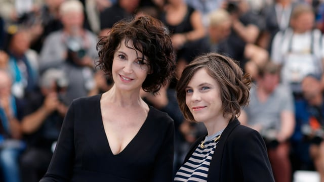 Zabou Breitman und Éléa Gobbé-Mévellec während des Foto-Calls in Cannes 2019.