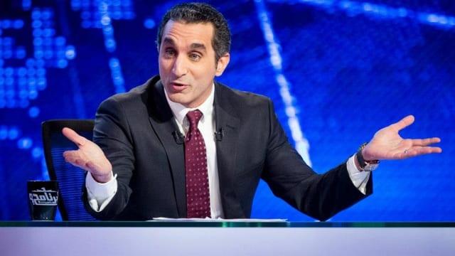 Der ägyptische Satiriker Bassem Youssef im Fernsehstudio.