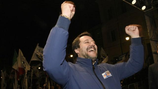 Oppositionschef Matteo Salvini im Porträt.