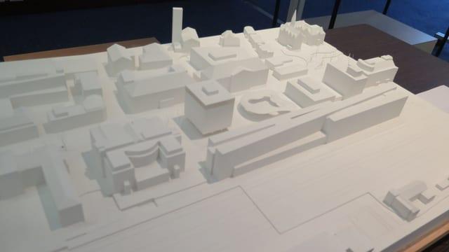 Modell des neuen Hotels am Aarauer Bahnhof