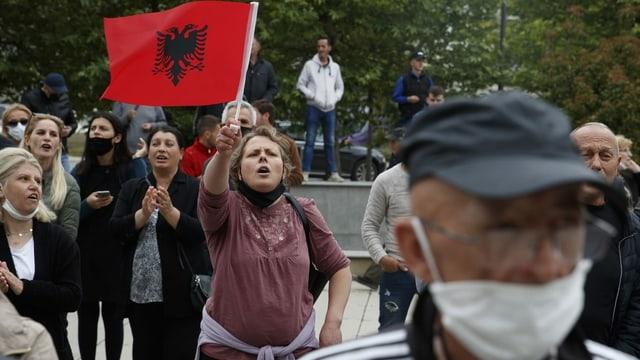 Leute demonstrieren.