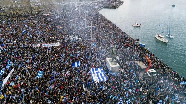 90'000 demonstrieren in Thessaloniki.