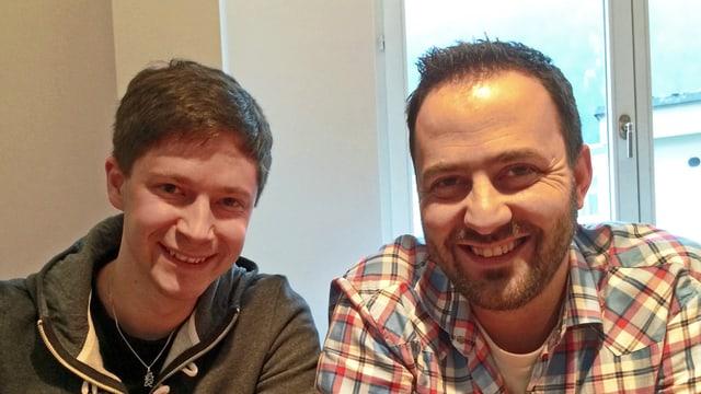 Filmemacher Livio Sommer (links) und der musikalische Leiter Michel Truniger.