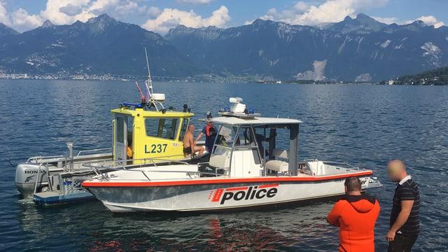 Schiff der Walliser Kantonspolizei
