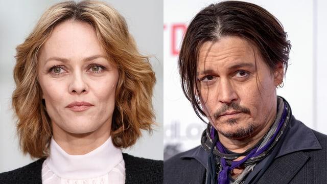 Porträt von Vanessa Paradis und Johnny Depp