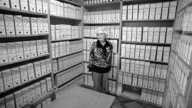 Marthe Gosteli, fotografà il 1991 en l'archiv.