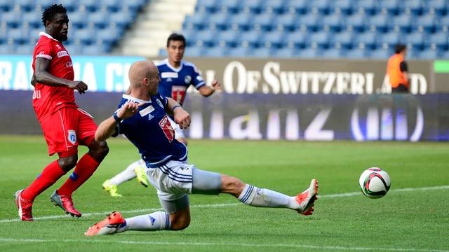 Marco Schneuwly rettet Luzern einen Punkt zum Saisonauftakt.