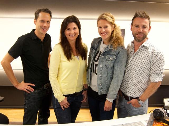 Ein Teil der JRZ-Crew von 2013: Mario Torriani, Judith Wernli, Kathrin Hönegger und Nik Hartmann.