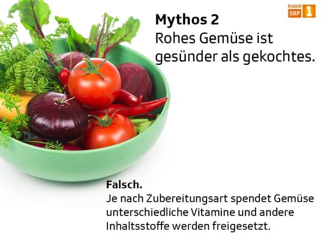 Nein. Gemüse und Früchte spenden je nach Zubereitungsart unterschiedliche Vitamine.