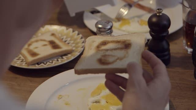 Ein Toast mit Guidos Konterfei