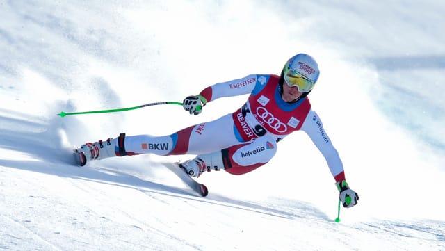 Il skiunz Carlo Janka en acziun.