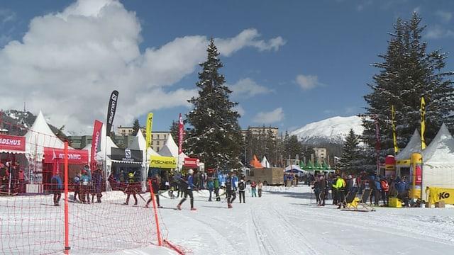 Vista sin il village a San Murezzan al maraton da skis 2019