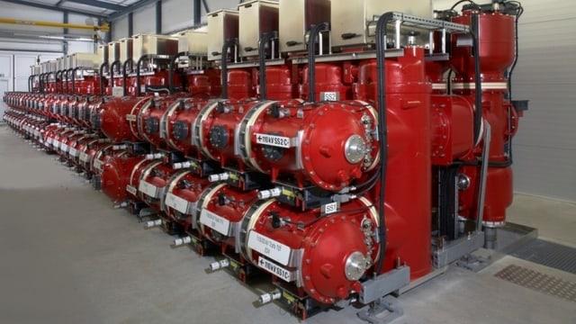 Beispiel einer gasisolierten Schaltanlage.