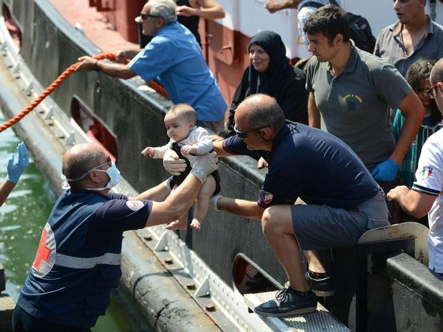 Italiens Flüchtlingsstrom.