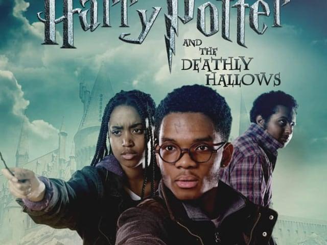 Drei farbige Jugendliche haben den weissen Originalcast des «Harry Potter»-Films nachgestellt