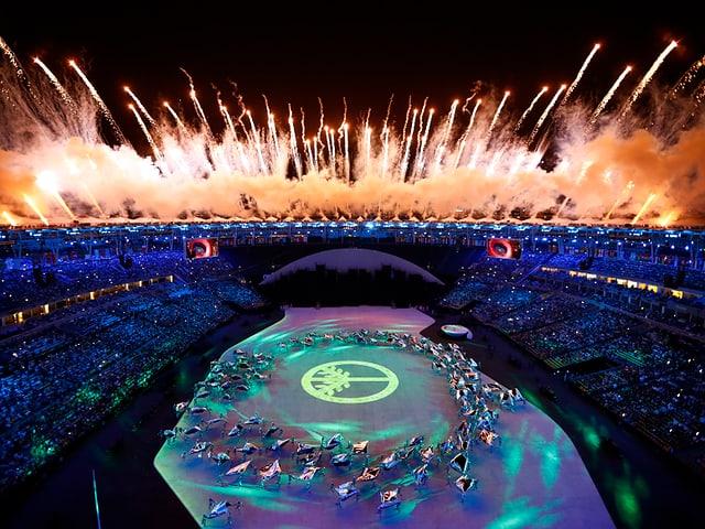 Olympische Eröffnungszeremonie.