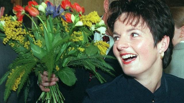 Die lachende Ruth Metzler am Wahltag.