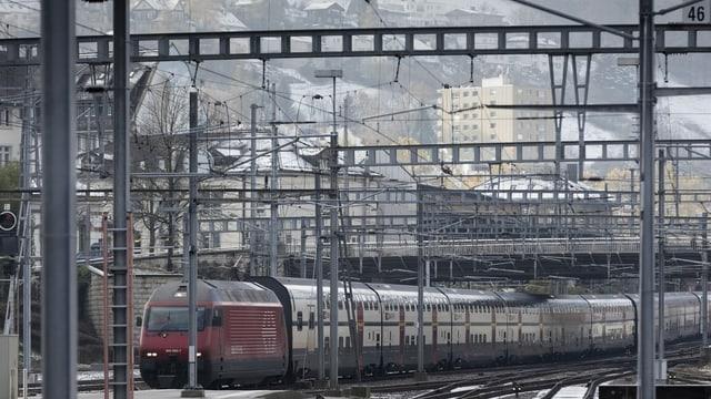 Tren Intercity a Genevra