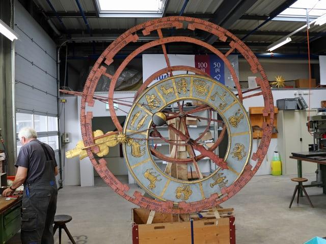 Das Zifferblatt des Zytglogge-Turms ist über 600 Jahre alt. Es ist ein astronomisches Zifferblatt, ein sogenanntes Astrolabium.