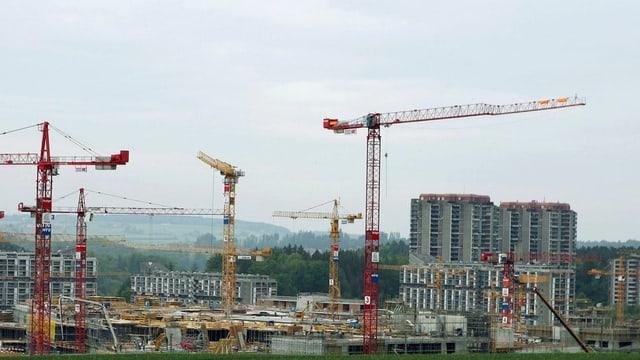 Plazzal da construcziun al ur da Berna.
