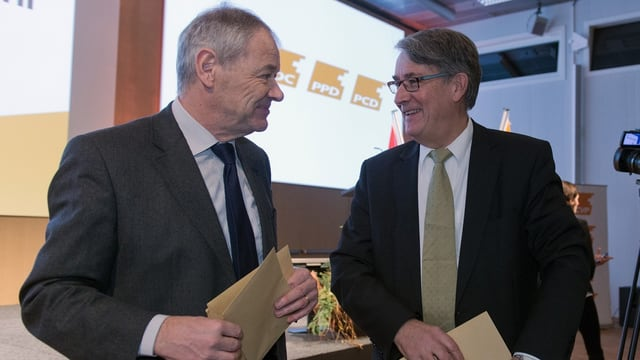 Peter Bieri und Urs Schwaller diskutieren